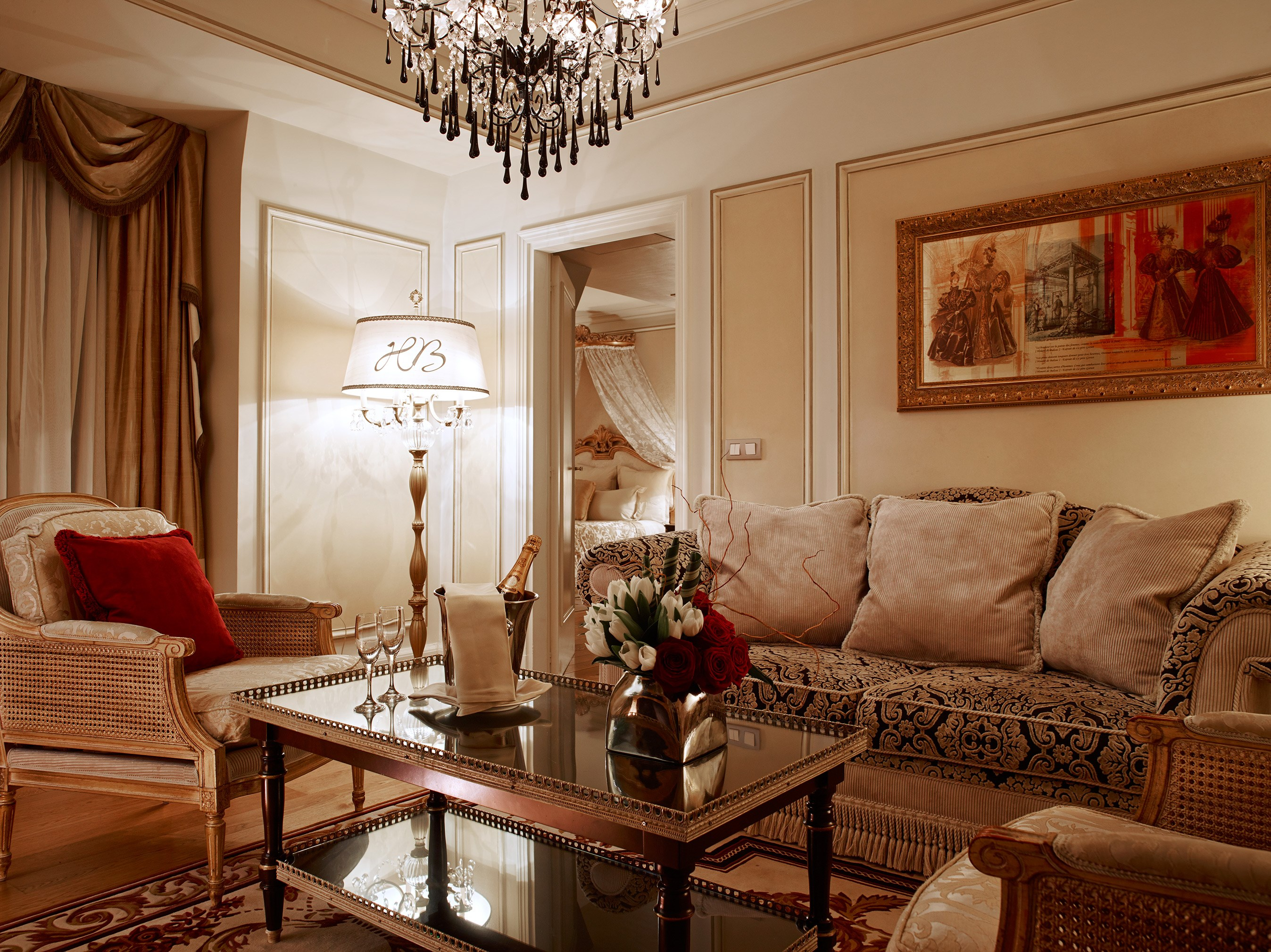 Living Room Presidential Suite Hotel Balzac Paris
